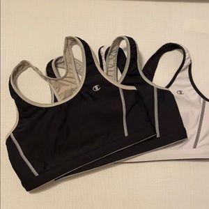 Champion Sports Workout Bras -Set of 3 Size M